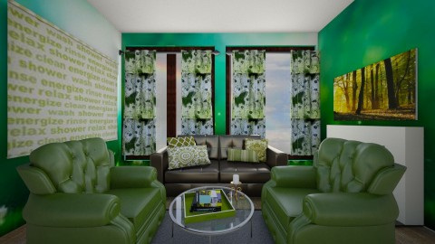 Green peace - Living room - by Roomstyler666