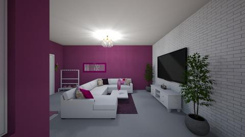 pink and purple - Living room  - by 0_ana_0