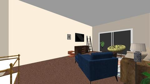 Blue Brown Living Room - by mhotti2