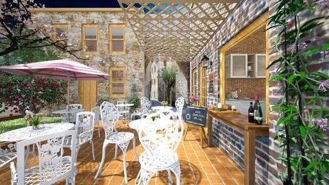 Old Quebec coffee shop - Rustic - Garden  - by Bibiche