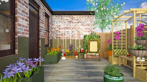 Little patio - Garden  - by augustmoon