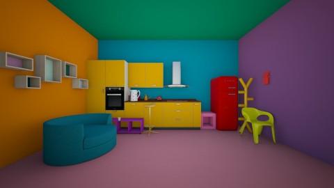 colorful kitchen - Modern - Kitchen - by wildvioletkiss