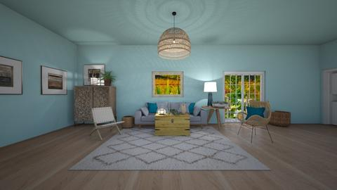 Blue Boho - Living room  - by greekgirl37
