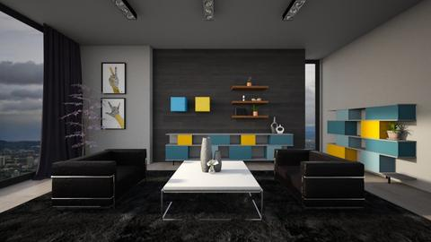 pop of color - Modern - Living room  - by YourSisterTho