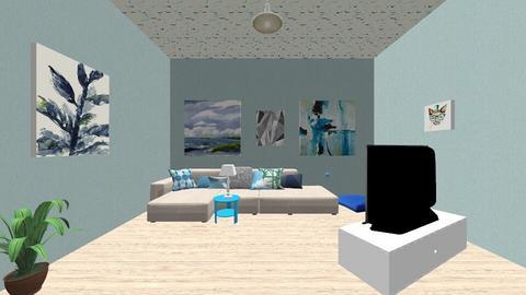 blue room - Living room - by Asa56678