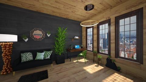 Urban Jungle Office - Office - by KittyPrincess77