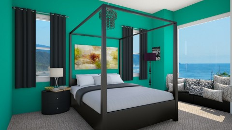 Sea Side Bedroom - by Julieisawesome