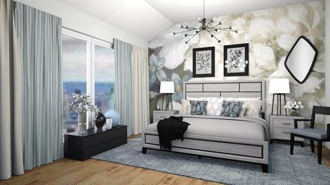 Flower wall - Bedroom  - by lpkinteriordesigns