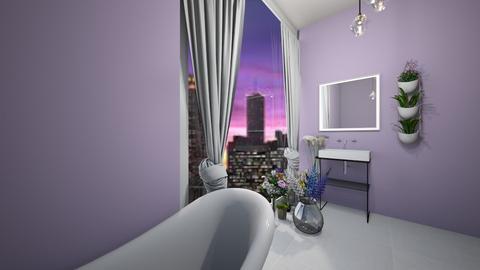 Lilac Bathroom - Modern - Bathroom  - by Pirategirl