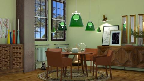 lamps and round table - by nat mi