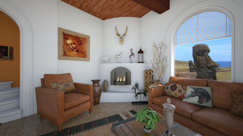 Adobe - Living room  - by Lackew