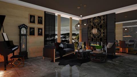 Dark Tones - Living room  - by Feeny
