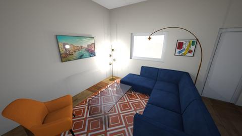 Oakland Apt - Retro - Living room  - by Pteradox