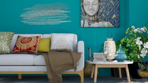 BLEND - Eclectic - Living room  - by queenyiii