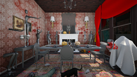 bloody october - Dining room - by Dibiduu