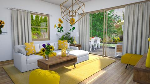 sunflower - Living room - by Ritix