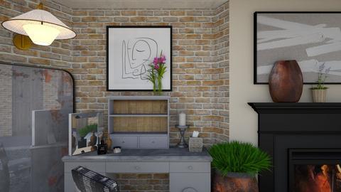 vanity basement gray - by Teri Dawn