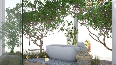 bathroom with tree - Bathroom  - by preeyanat