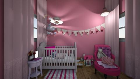 pink nursery - Kids room  - by Ellie665