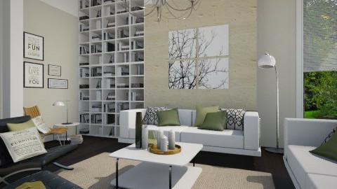 Green - Modern - Living room  - by Thrud45