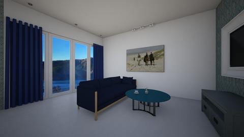 blue - Living room  - by monicaseke