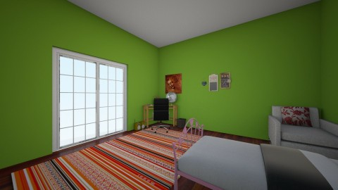 teenage girl room - Kids room - by Isabella Factor