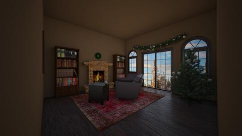 Rustic Christmas - Rustic - Living room  - by Tigerstar101