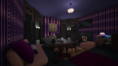 PurplePinkLiving - Glamour - Living room  - by PAPIdesigns