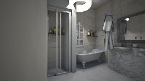 art deco bathroom - Modern - Bathroom  - by kiwimelon711