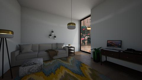 rainy city - Living room  - by Niall chOnce