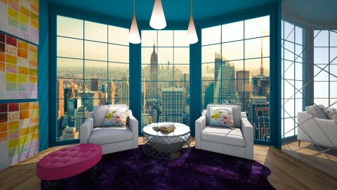 new york condo 3 - Eclectic - Living room  - by newyork4everloved