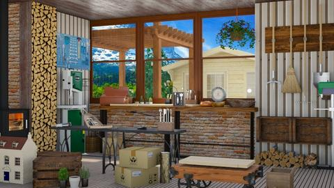E13_Woodworkers shed - by allessa
