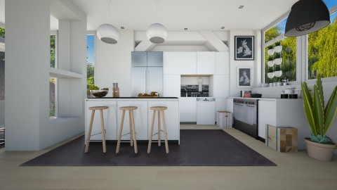 kitchen for a family - Modern - by Evangeline_The_Unicorn