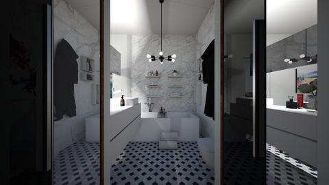 NY - Bathroom - by flacazarataca_1
