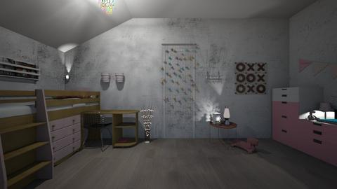 kids room pink - Modern - Kids room  - by roosb