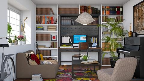 Modern Boho V - Eclectic - Office  - by Theadora