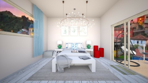 Grey Bedroom - Classic - Bedroom  - by Bao Tran
