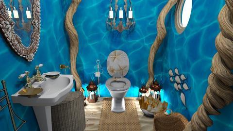 blue sea toilet 3d - Bathroom  - by uniquecorn