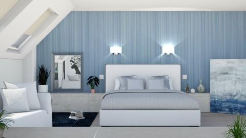 M_ Blue bedroom - Modern - by milyca8