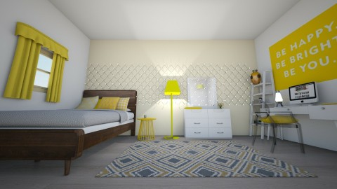 YELLOW ROOM - Modern - Bedroom - by unicorn4325