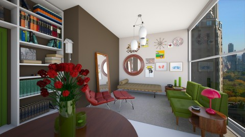 Flat - Retro - Living room  - by AleksRossi