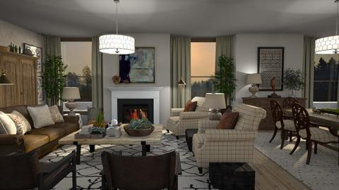 Avery - Classic - Living room  - by Claudia Correia