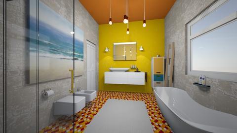 summer bath I - Bathroom - by bettamarchegiano