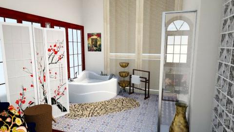 bathroom neutral wall - by Roxana Seaearthlandsky