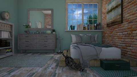 Stormy Day Bedroom - Bedroom  - by stmaiorino