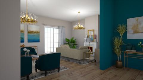 Turquoise - Living room - by dorota_k