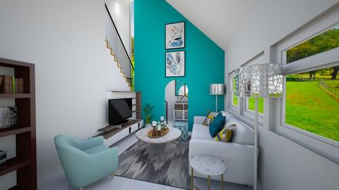 Turquoise living - Living room - by disa