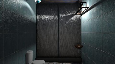 Turquoise and metal - Bathroom - by GarrettDaniel