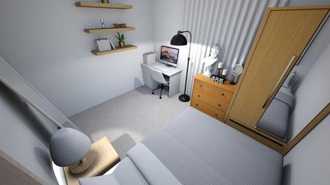 minimalist bedroom 2 - Minimal - Bedroom  - by dindin01