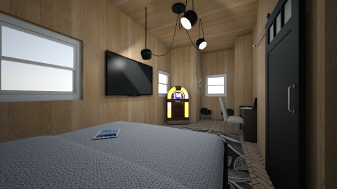 Wood Lovers Cabin - Rustic - Bedroom  - by RAF2024